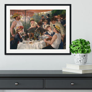 Luncheon of the Boating Party by Renoir Framed Print - Canvas Art Rocks - 1