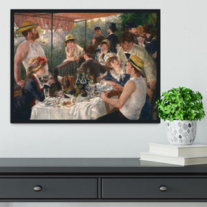 Luncheon of the Boating Party by Renoir Framed Print - Canvas Art Rocks - 2