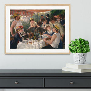 Luncheon of the Boating Party by Renoir Framed Print - Canvas Art Rocks - 3