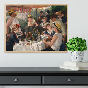 Luncheon of the Boating Party by Renoir Framed Print - Canvas Art Rocks - 4
