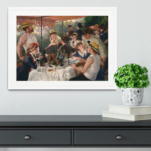 Luncheon of the Boating Party by Renoir Framed Print - Canvas Art Rocks - 5