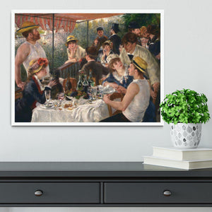 Luncheon of the Boating Party by Renoir Framed Print - Canvas Art Rocks -6
