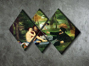 Luncheon on The Grass 1863 by Manet 4 Square Multi Panel Canvas - Canvas Art Rocks - 2