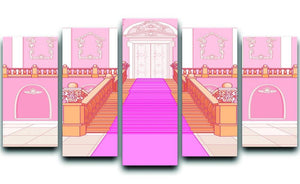 Luxury staircase in the magic palace 5 Split Panel Canvas  - Canvas Art Rocks - 1