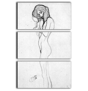 Madalane by Klimt 3 Split Panel Canvas Print - Canvas Art Rocks - 1
