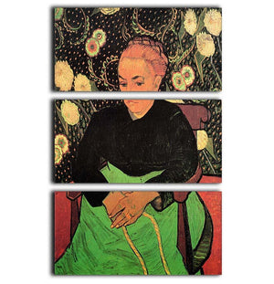 Madame Roulin Rocking the Cradle La Berceuse by Van Gogh 3 Split Panel Canvas Print - Canvas Art Rocks - 1