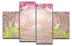 Magic spring forest 4 Split Panel Canvas  - Canvas Art Rocks - 1