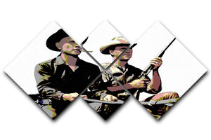 Magnificent Seven 4 Square Multi Panel Canvas  - Canvas Art Rocks - 1