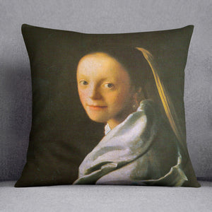 Maid by Vermeer Cushion