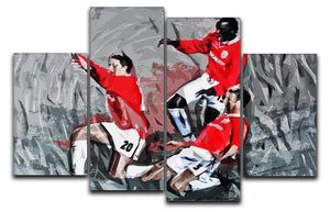 Man United Champions League Final 4 Split Panel Canvas  - Canvas Art Rocks - 1