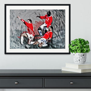 Man United Champions League Final Framed Print - Canvas Art Rocks - 1