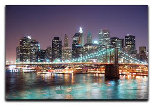 Manhattan skyline with skyscrapers over Hudson River Canvas Print or Poster  - Canvas Art Rocks - 1