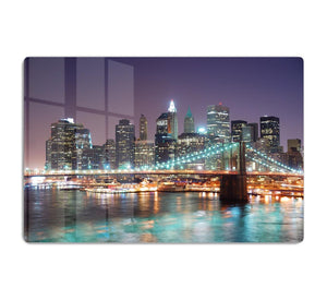 Manhattan skyline with skyscrapers over Hudson River HD Metal Print