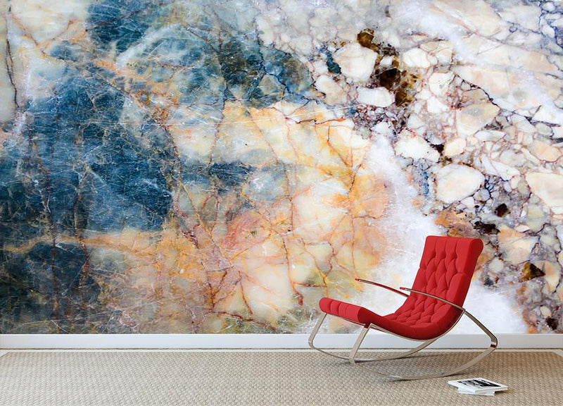 Marble patterned texture Wall Mural Wallpaper - Canvas Art Rocks - 1