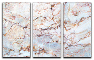 Marble with Brown Veins 3 Split Panel Canvas Print - Canvas Art Rocks - 1
