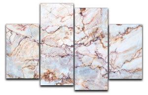 Marble with Brown Veins 4 Split Panel Canvas - Canvas Art Rocks - 1