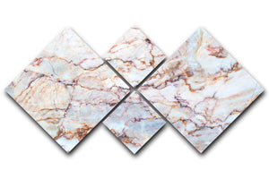 Marble with Brown Veins 4 Square Multi Panel Canvas - Canvas Art Rocks - 1