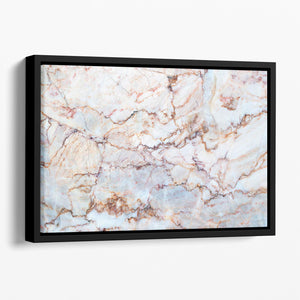 Marble with Brown Veins Floating Framed Canvas - Canvas Art Rocks - 1