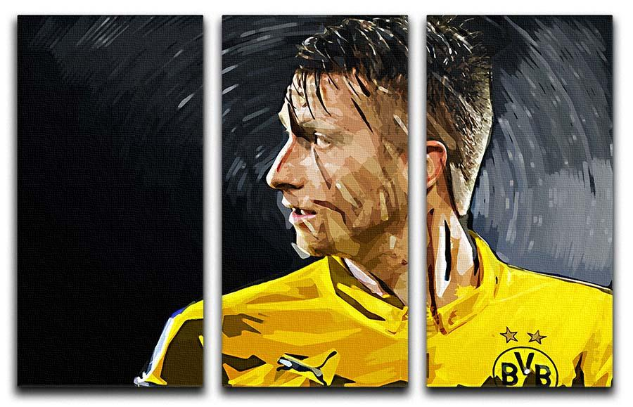 Marco Reus 3 Split Panel Canvas Print | Canvas Art Rocks