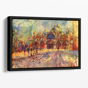 Marcus place in Venice by Renoir Floating Framed Canvas