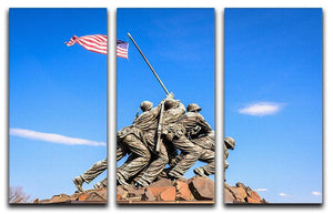 Marine Corps War Memorial at dawn 3 Split Panel Canvas Print - Canvas Art Rocks - 1