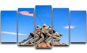 Marine Corps War Memorial at dawn 5 Split Panel Canvas  - Canvas Art Rocks - 1