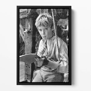 Mark Lester as Oliver Floating Framed Canvas