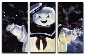 Marshmallow Man from the Ghostbusters 3 Split Panel Canvas Print - Canvas Art Rocks - 4