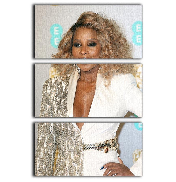 Mary J Blige at the BAFTAs 3 Split Panel Canvas Print