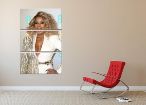 Mary J Blige at the BAFTAs 3 Split Panel Canvas Print - Canvas Art Rocks - 2