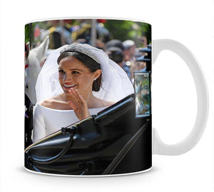Meghan and Prince Harry greet the crowds Mug - Canvas Art Rocks - 1