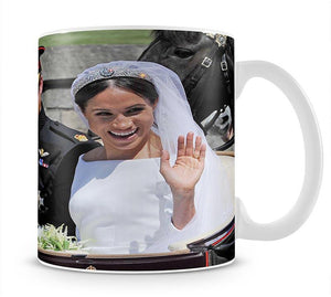 Meghan and Prince Harry wave to the crowds Mug - Canvas Art Rocks - 1