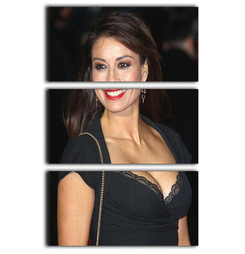 Melanie Sykes in a black dress 3 Split Panel Canvas Print - Canvas Art Rocks - 1