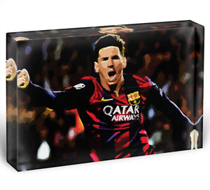 Messi Goal Celebration Acrylic Block - Canvas Art Rocks - 1