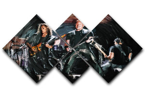 Metallica Live 4 Square Multi Panel Canvas  - Canvas Art Rocks - 1