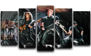 Metallica Live 5 Split Panel Canvas  - Canvas Art Rocks - 1
