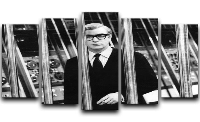 Michael Caine 1967 5 Split Panel Canvas
