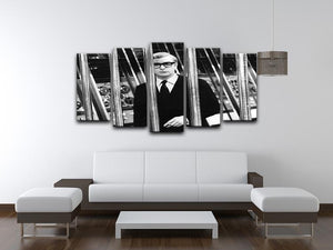 Michael Caine 1967 5 Split Panel Canvas  - Canvas Art Rocks - 3