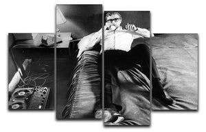 Michael Caine relaxing at home 4 Split Panel Canvas  - Canvas Art Rocks - 1