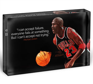 Michael Jordan Accept failure Acrylic Block - Canvas Art Rocks - 1