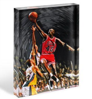 Michael Jordan Acrylic Block - Canvas Art Rocks - 1