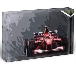 Michael Schumacher Formula 1 Acrylic Block - Canvas Art Rocks - 1