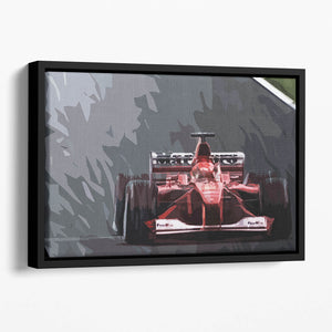 Michael Schumacher Formula 1 Floating Framed Canvas