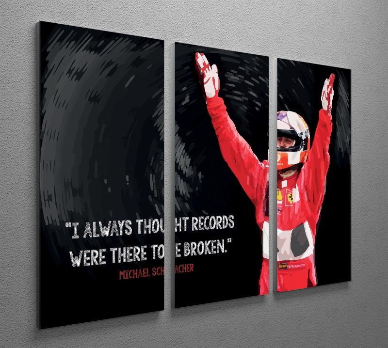 Michael Schumacher Records 3 Split Panel Canvas Print - Canvas Art Rocks - 2