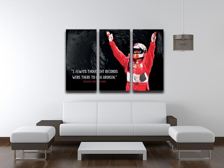 Michael Schumacher Records 3 Split Panel Canvas Print - Canvas Art Rocks - 3