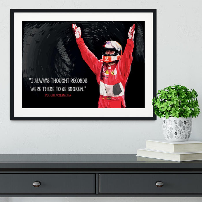 Michael Schumacher Records Framed Print