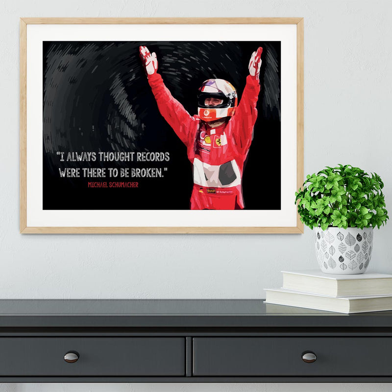 Michael Schumacher Records Framed Print - Canvas Art Rocks - 3