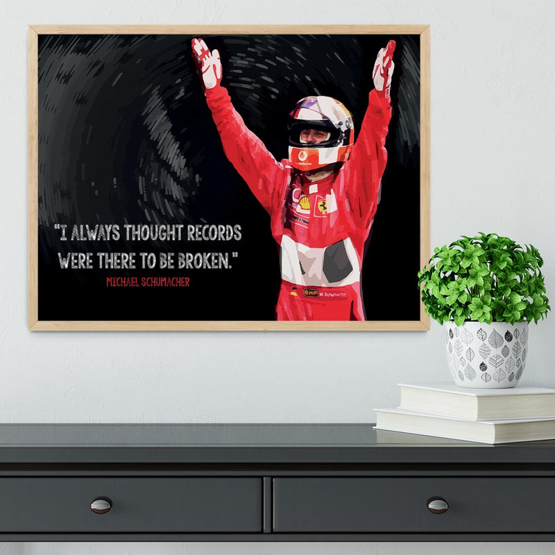Michael Schumacher Records Framed Print - Canvas Art Rocks - 4