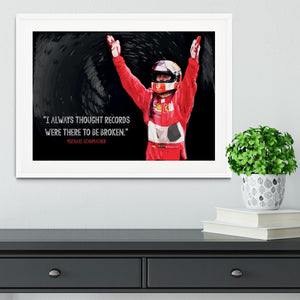 Michael Schumacher Records Framed Print - Canvas Art Rocks - 5