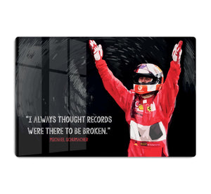 Michael Schumacher Records HD Metal Print